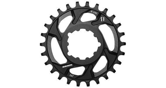 SRAM X-Sync Klinge sort Direct Mount 11-speed 6° Offset sort